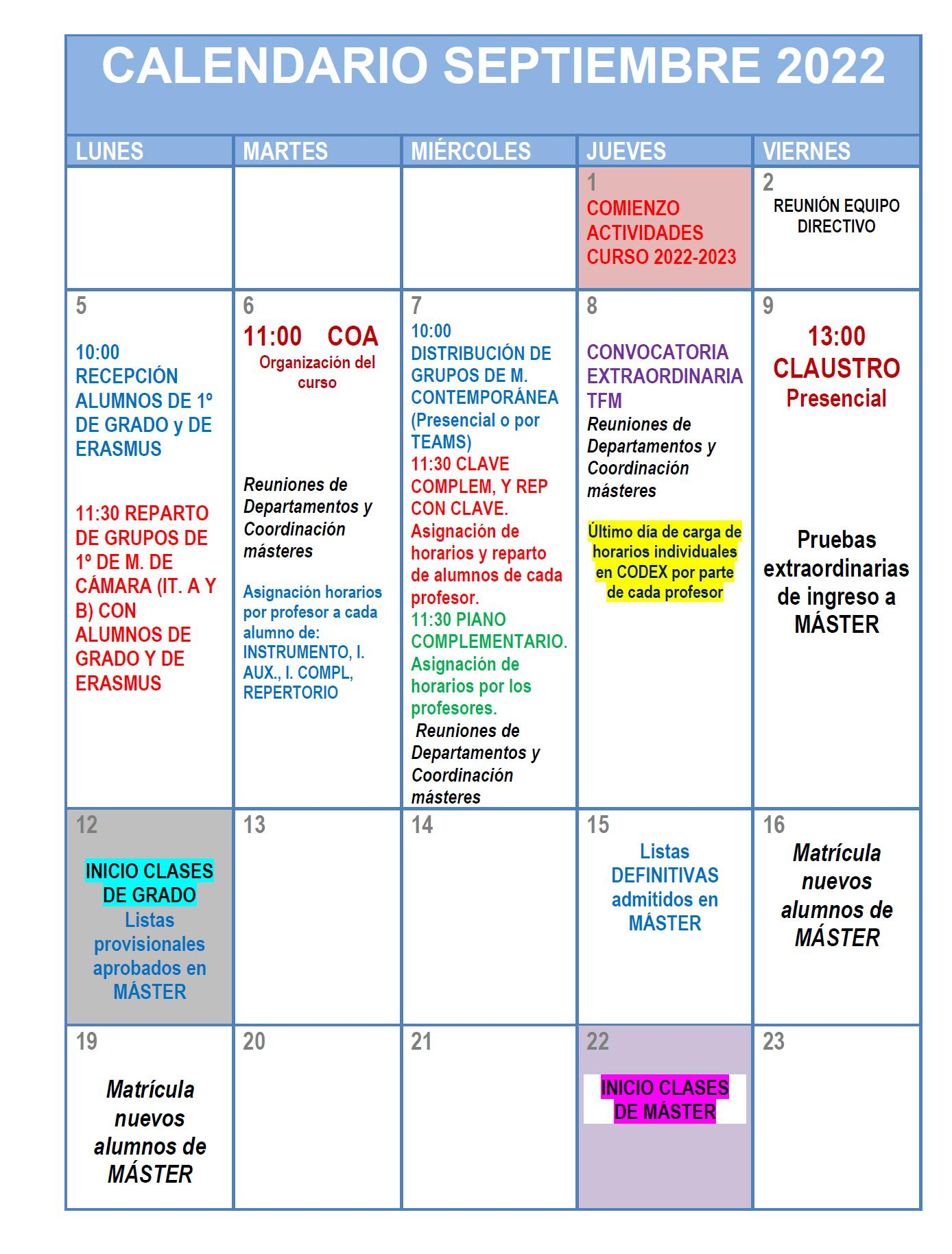 Calendario Laboral 2020 Madrid Capital.Real Conservatorio Superior De Musica De Madrid